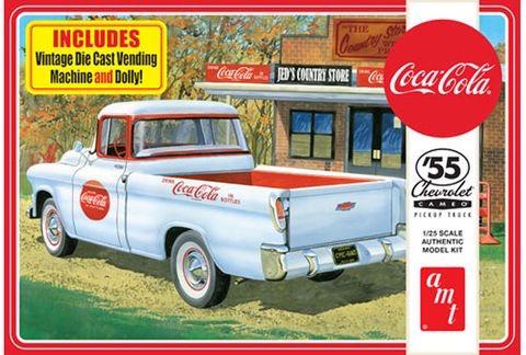 Plastic Kits AMT (h) 1:25 Scale - 1955 Chevy Cameo Pickup (Coca-Cola)