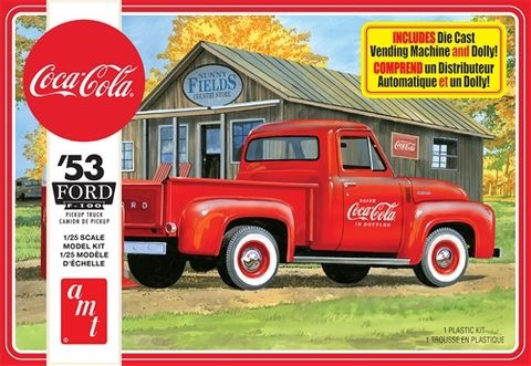 Plastic Kits AMT (h) 1:25 Scale - 1953 Ford Pickup Truck (Coca-Cola)