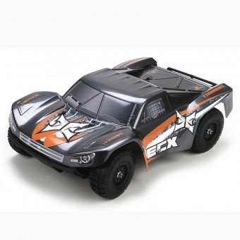 Cars Elect RTR Electrix Torment 1/18th 4wd RTR Short Course Truck, Grey Orange