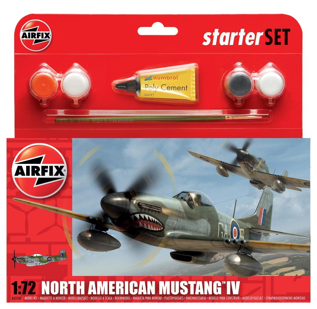Plastic Kits Airfix North American Mustang IV Starter Set 1:72