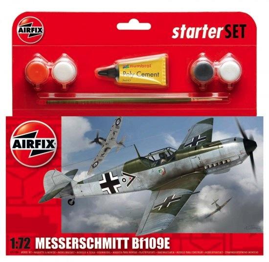 Plastic Kits Airfix Messerschmitt Bf109E-3 Starter Set 1:72