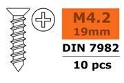 General Gforce Self-tapping countersunk screw, 4.2X19, Galvanized Steel (10pcs)