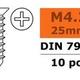General Gforce Self-tapping countersunk screw, 4,2X25, Galvanized Steel (10pcs)