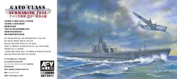 Plastic Kits AFV CLUB (i)  1/350 Scale -  Gato Class Submarine 1943 Plastic Model Kit