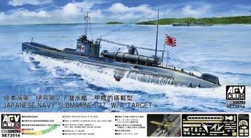 Plastic Kits AFV CLUB (i) 1/350 Scale -  Japanese Navy Submarine I-27  Plastic Model Kit