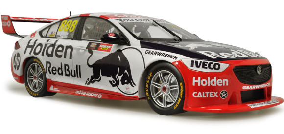 Diecast CLASSIC CARLECTABLES Diecast 1/18 Scale Jamie Whincup & Craig Lowndes 2019 Holden 50th Annaversary Retro Bathurst Livery