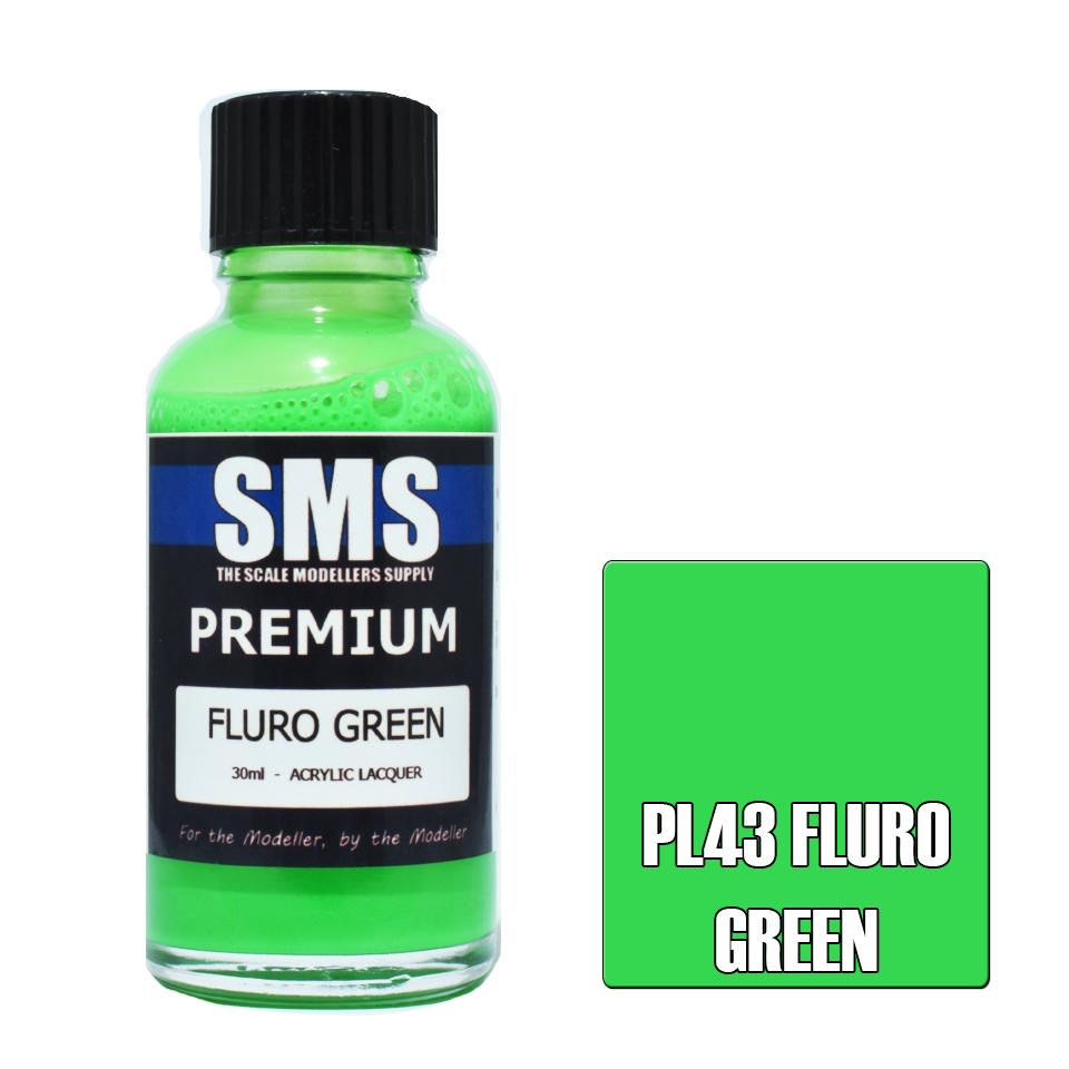 Paint SMS Premium Acrylic Lacquer FLURO GREEN 30ml
