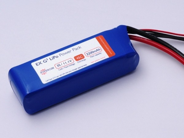 Battery LiPo Hyperion GENERATION 3, 2200mAh 45C/90C Packs 99.0A Continuous 5S