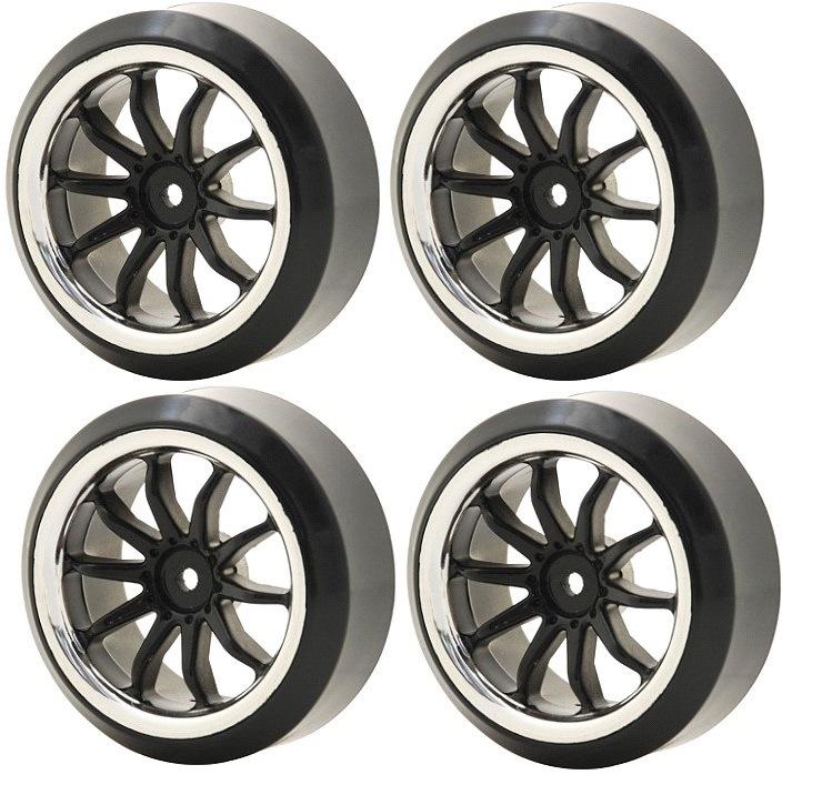 Wheels Vision 1/10 Drift 10 Spoke Tire Set-B (4pcs)