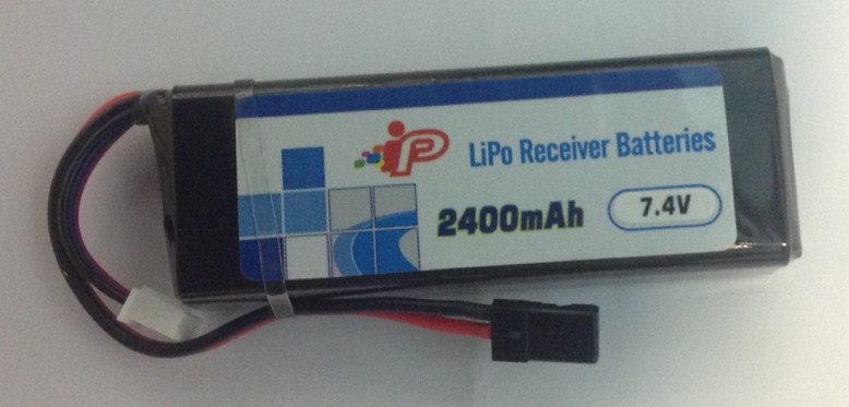 Battery LiPo Intellect LIPO 2400Mah Receiver Pack JR Plug (Flat Pack Style)