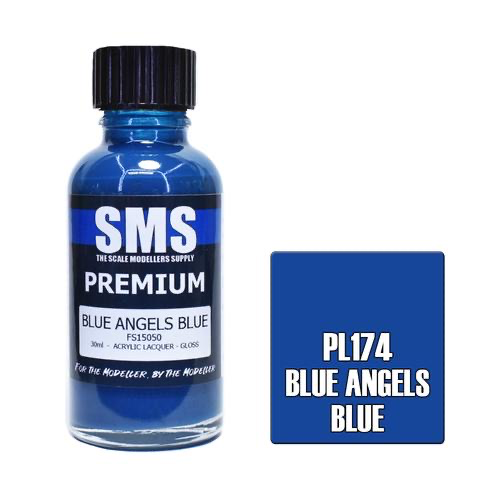 Paint SMS Premium Acrylic Lacquer BLUE ANGELS BLUE FS15050 30ml