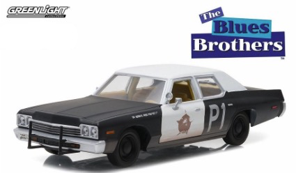 Diecast DDA Greenlight 1:24 1974 Dodge Monaco Blues Mobile Blues Brothers Movie