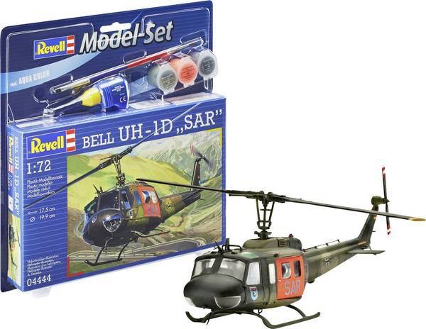 Plastic Kits Revell (j) 1/144 Scale - Bell UH-1D Sar Helicopter Starter Set