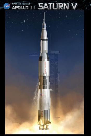 Plastic Kits DRAGON (f) 1/72 Scale -  Apollo 11 Saturn V Plastic Model Kit