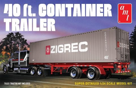 Plastic Kits AMT (k) 1:24 Scale - 40' Semi Container Trailer