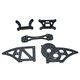 Parts HBX- Chassis Side Plates B+Shock Towers suit  Ground Crusher