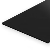 Static Models EVERGREEN 9515 15 X 30cm Black Styrene Sheet .040  (Pack 2)