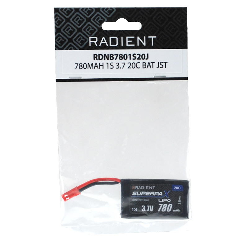 Battery LiPo ARES 780Mah 1-CellL/1S 3.7V 20C Lipo Battery suit Alien & Shadow 240