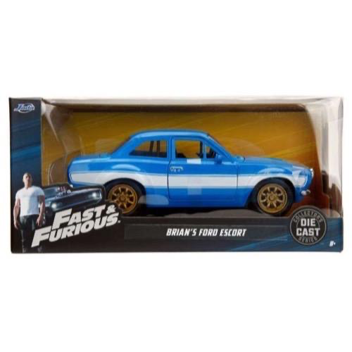 Diecast DDA Fast & Furious Brians Ford Escort RS2000 MKI Movie Diecast Car