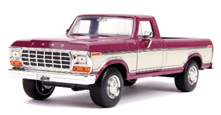 Diecast DDA Burgundy 1979 Ford F-150 Pickup Just Trucks