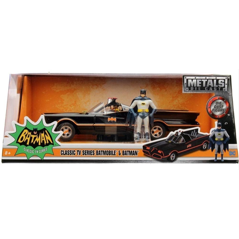 Diecast DDA Batman with 1966 Classic Batmobile (DC13) Movie Diecast Car