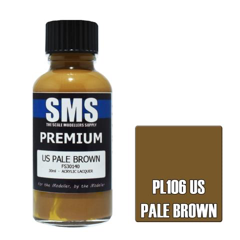 Paint SMS Premium Acrylic Lacquer US PALE BROWN FS30140 30ml