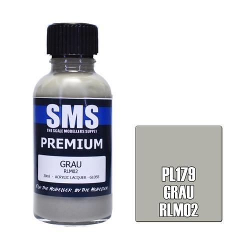 Paint SMS Premium Acrylic Lacquer GRAU RLM02 30ml