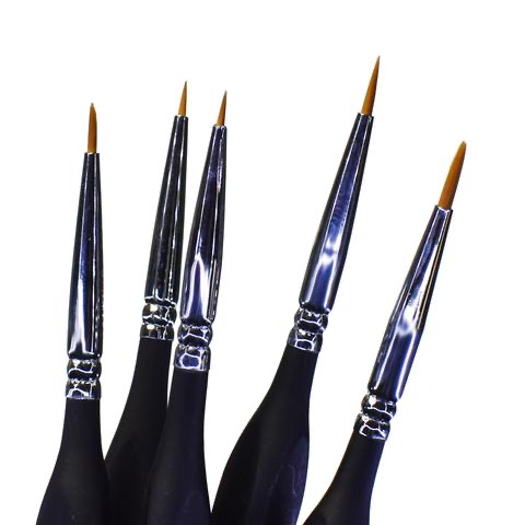 Paint SMS Brush Set (SYNTHETIC)  5Pcs