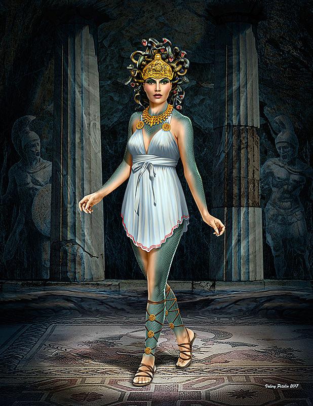 Plastic Kits MB Ancient Greek Myths Series Medusa