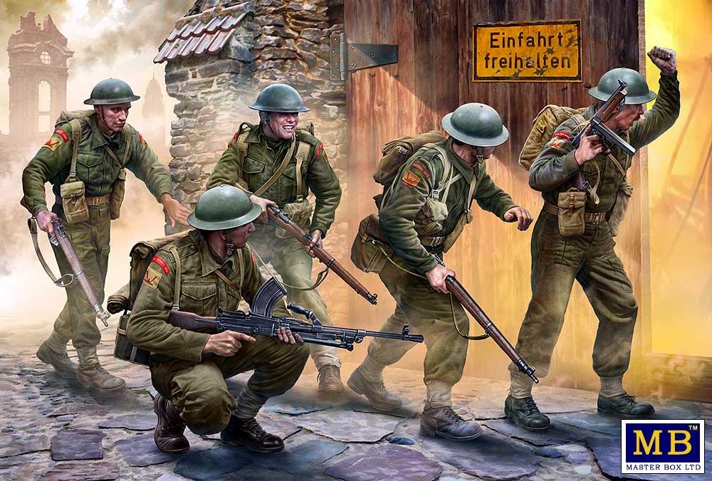 Plastic Kits MB British Infantry. Western Europe, 1944-1945 1/35