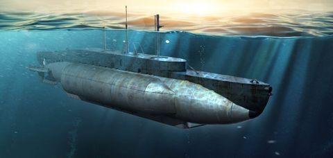 Plastic Kits I LOVE KIT (k) 1:35 Scale -  British HMS X-Craft Submarine