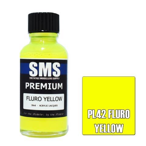 Paint SMS Premium Acrylic Lacquer PREMIUM FLURO YELLOW 30ml