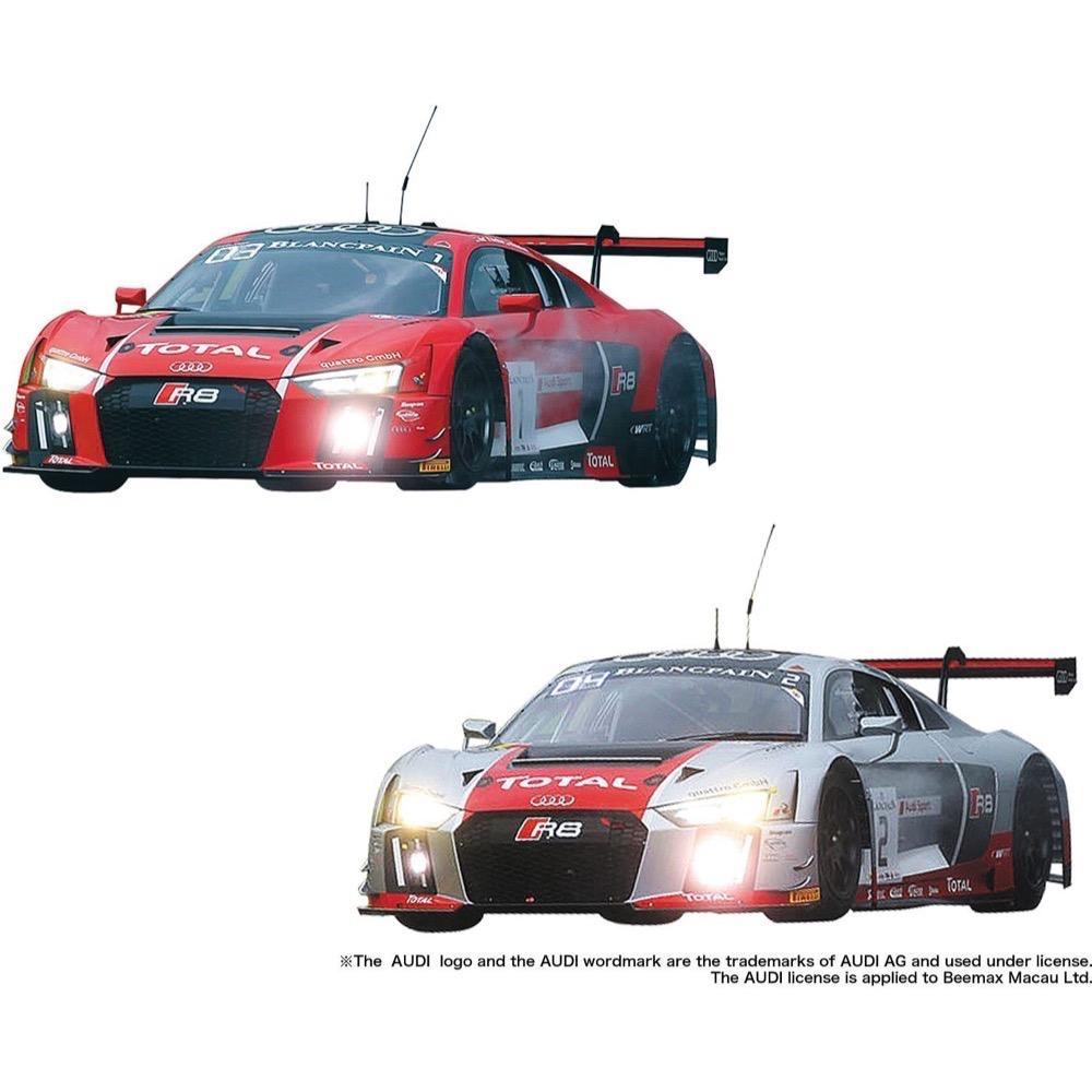 Plastic Kits NuNu 1/24 Audi R8 LMS GT3 #1 and #2 Plastic Model Car