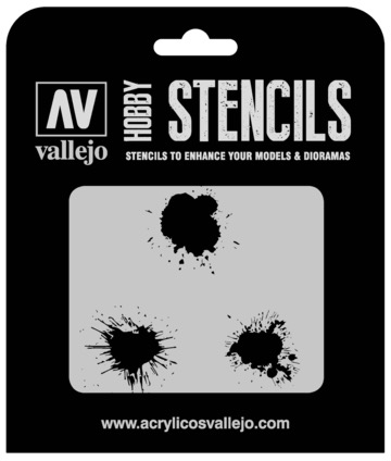 Paint Vallejo 1/35 Paint Stains Stencil