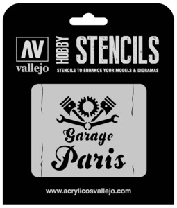 Paint Vallejo  1/35 Vintage Garage Sign Stencil