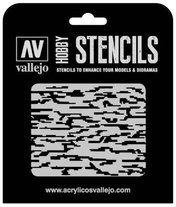 Paint Vallejo 1/32 Pixelated Modern Camo Stencil