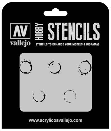Paint Vallejo 1/35 Drum Oil Markings Stencil