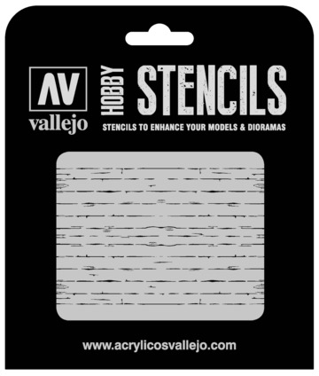 Parts Vallejo 1/35 Wood Texture Num. 1 Stencil
