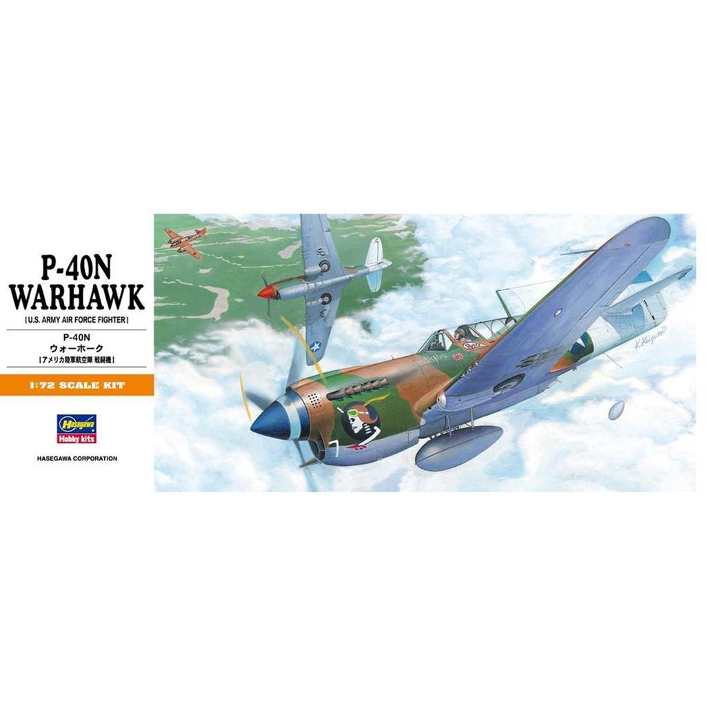 Plastic Kits Hasegawa - (h) 1/72  P-40N Warhawk