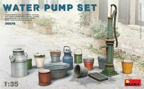 Plastic Kits Miniart 1/35 Water Pump Set Plastic Model Kit