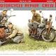 Plastic Kits Miniart 1/35 U.S. Motorcycle Repair Crew. Special Edition Plastic Model Kit
