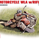 Plastic Kits Miniart 1/35 U.S.Motorcycle WLA with Rifleman Plastic Model Kit
