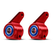 Parts Traxxas Aloy Steering Blocks suit Rustler/Stampede/Bandit/Monster Series - Red