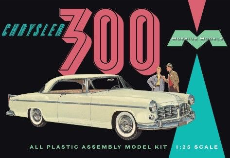 Plastic Kits MOEBIUS (m)  1/25 Scale - 1955 Chrysler C300E Plastic Model Kit