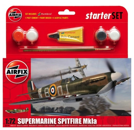 Plastic Kits Airfix Supermarine Spitfire MkIa Starter Set 1:72