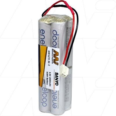 Battery NiMh MI Tx Battery Eneloop 2000mA 9.6V Square -E (Hitec) Con