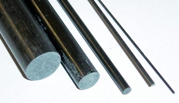 Carbon Carbon Fiber Rod 1m x 4mm