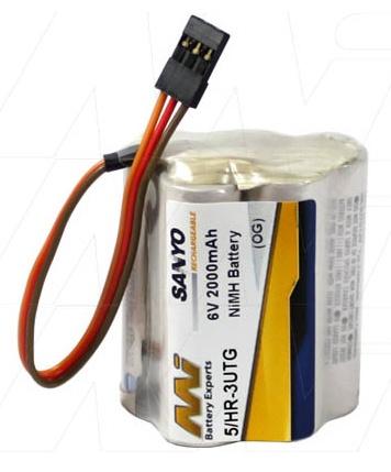 Battery NiMh MI Rx Battery Eneloop 2000mA 6V Hump JR Con
