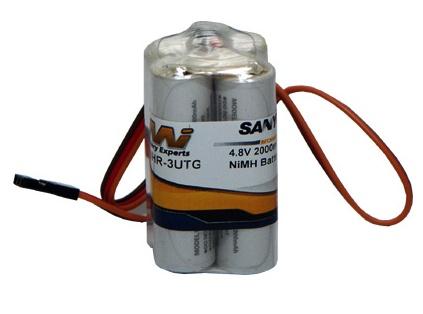 Battery NiMh MI Rx Battery Eneloop 2000mA 4.8V Square JR