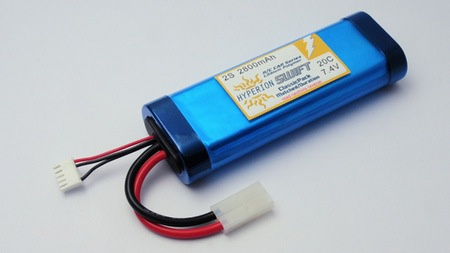 Battery LiPo Hyperion G3 SWIFT - 2S 2800mAh (20C) Classic Pack-style (Car) w/ Tamiya plug